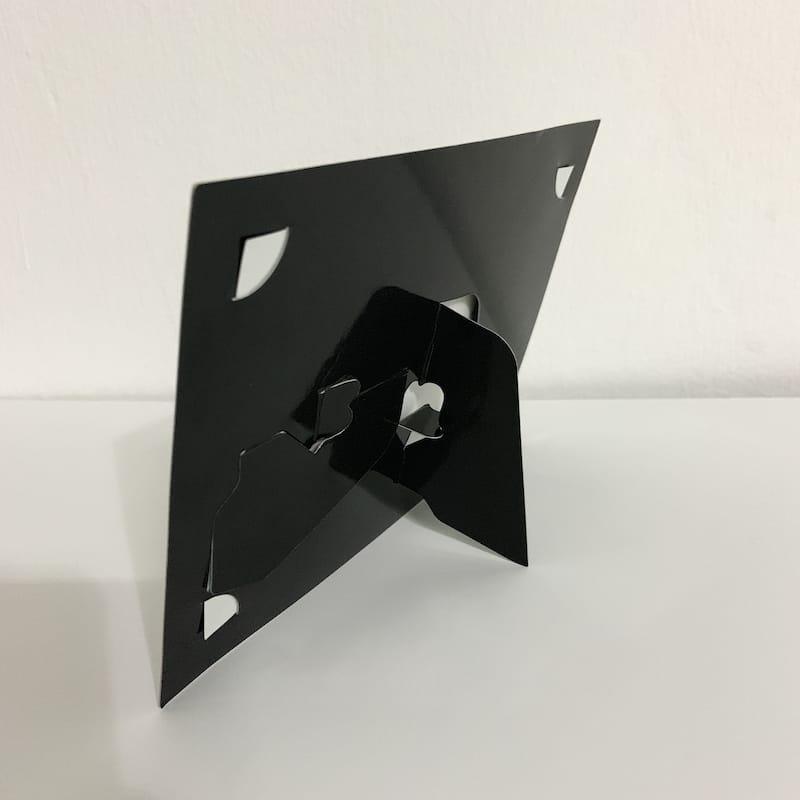 Plain Black Paper Photo Frame 2