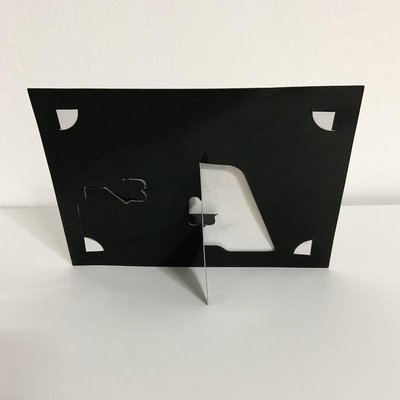 Plain Black Paper Photo Frame 3