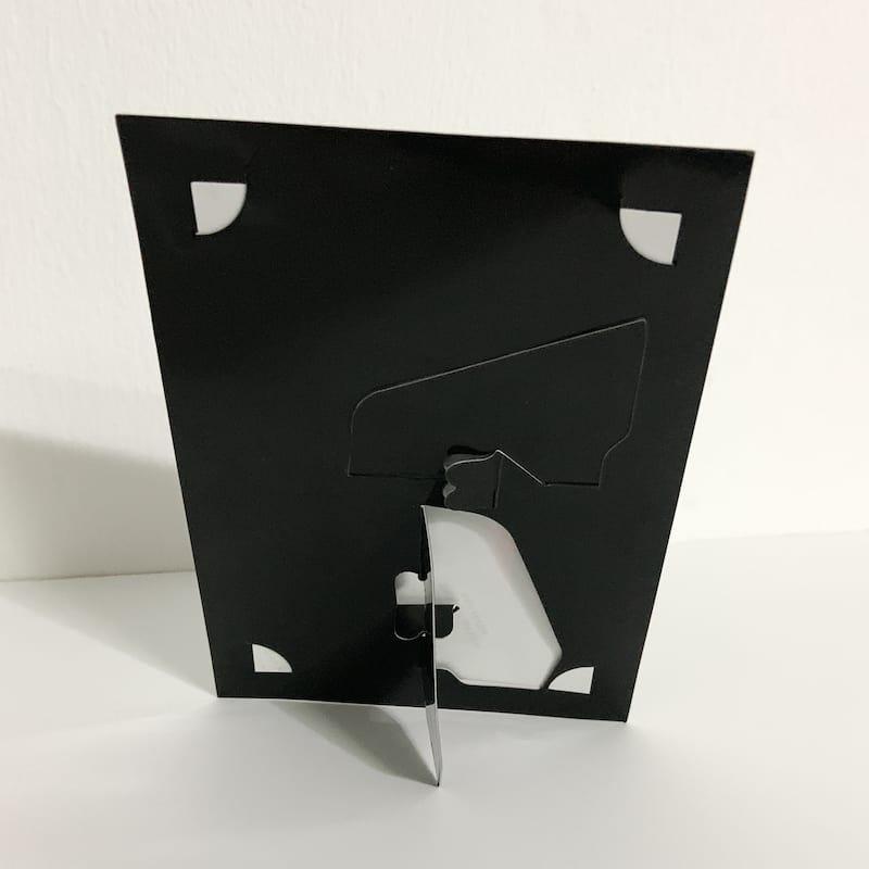 Plain Black Paper Photo Frame 8