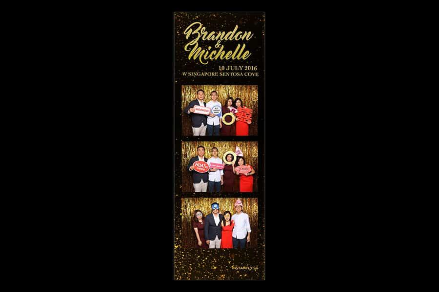Black and Gold Design 3 Budget Wedding Photobooth 1