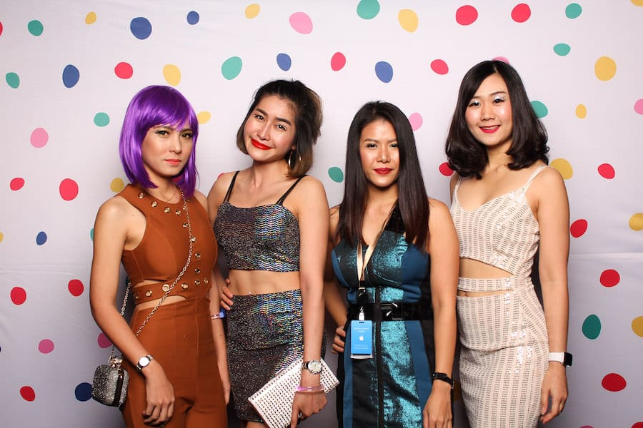 Colorful Dots Photo Booth Backdrop Instantly.sg 3