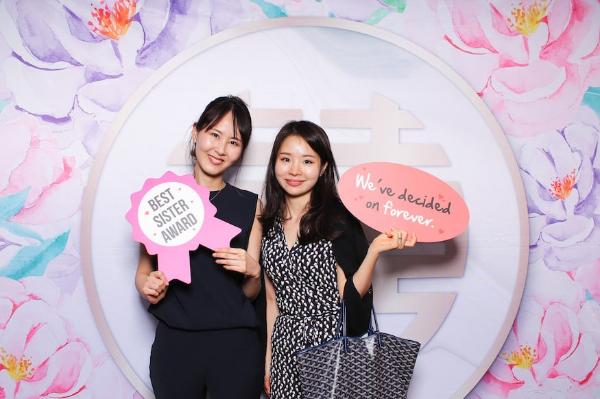 Photo Booth Backdrop Floral Xi Instantly Singapore 2