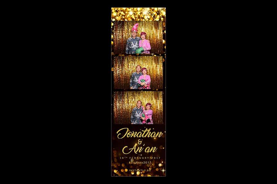Black and Gold Design 6 Budget Wedding Photobooth 1