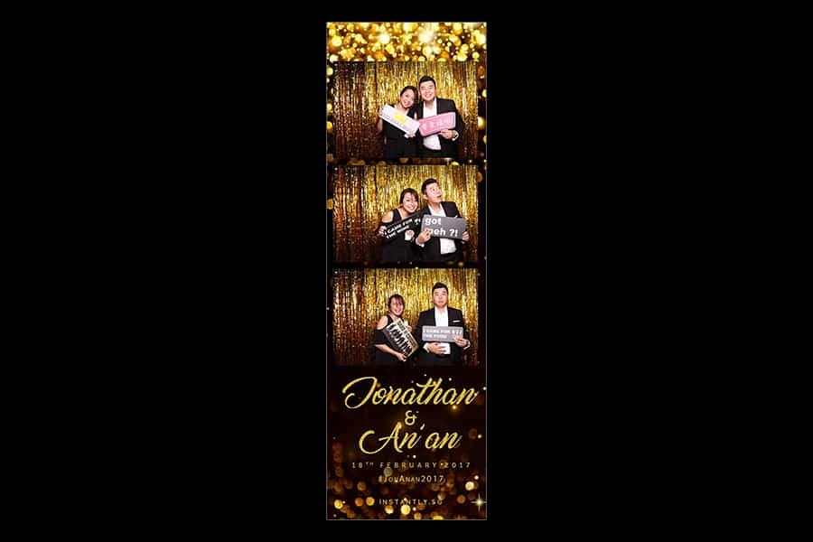 Black and Gold Design 6 Budget Wedding Photobooth 3