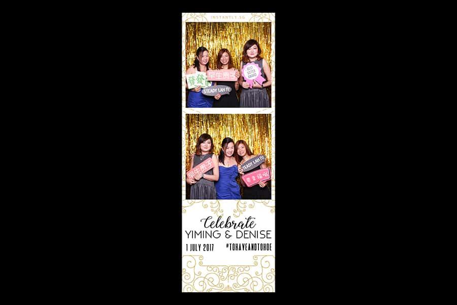 Budget Wedding Photo Booth Printout Design Black and Gold Design 7 1
