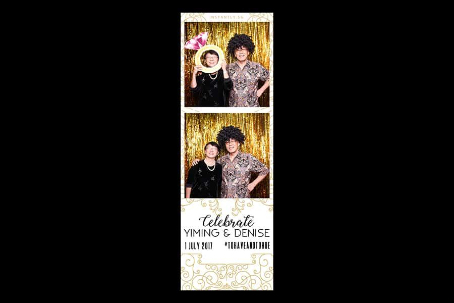Budget Wedding Photo Booth Printout Design Black and Gold Design 7 2