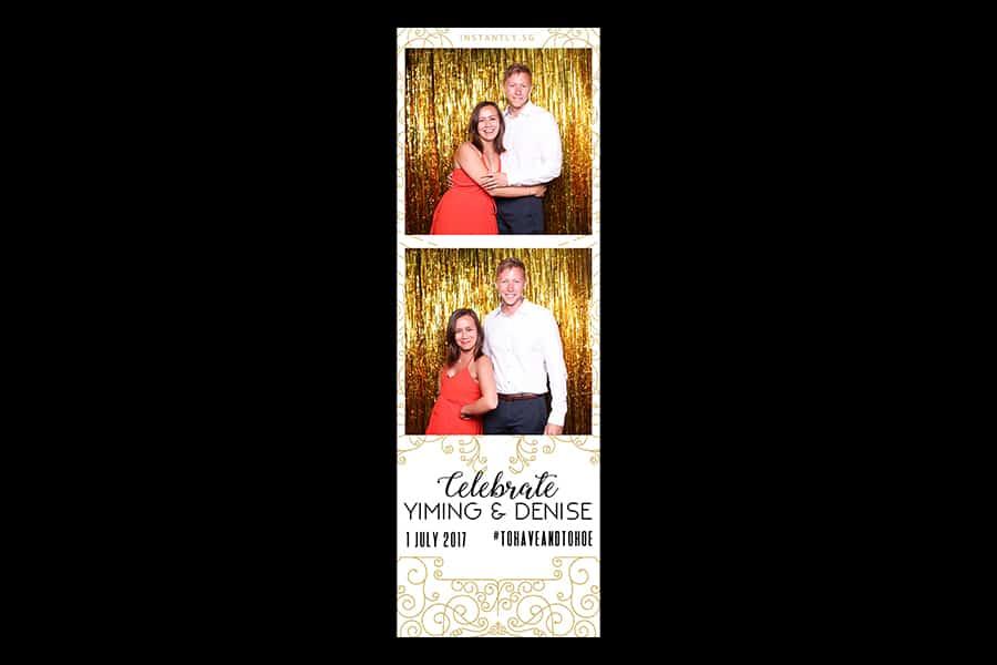 Budget Wedding Photo Booth Printout Design Black and Gold Design 7 3