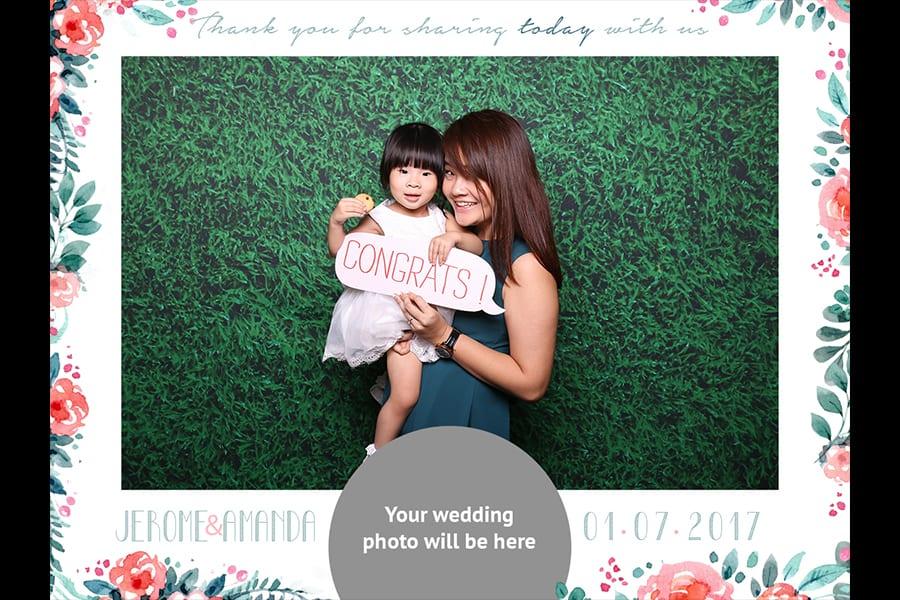 Floral Printout Design 15 Budget Wedding Photo Booth 1