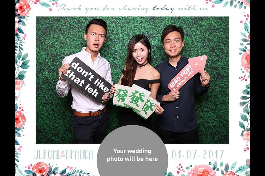 Floral Printout Design 15 Budget Wedding Photo Booth 3