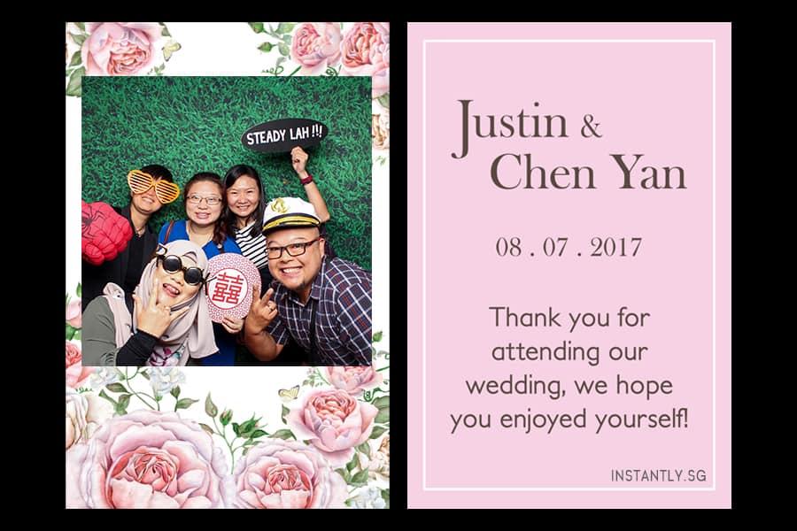 Floral Design 16 Budget Wedding Photo Booth Printout Design 1