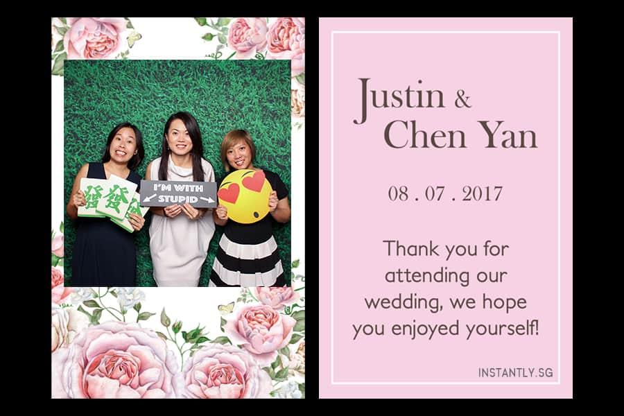 Floral Design 16 Budget Wedding Photo Booth Printout Design 2