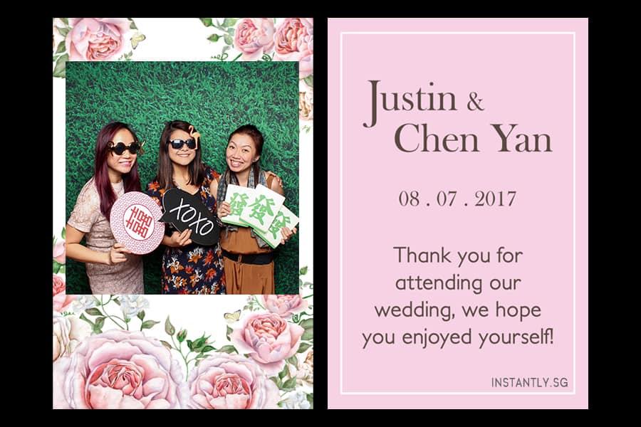Floral Design 16 Budget Wedding Photo Booth Printout Design 3